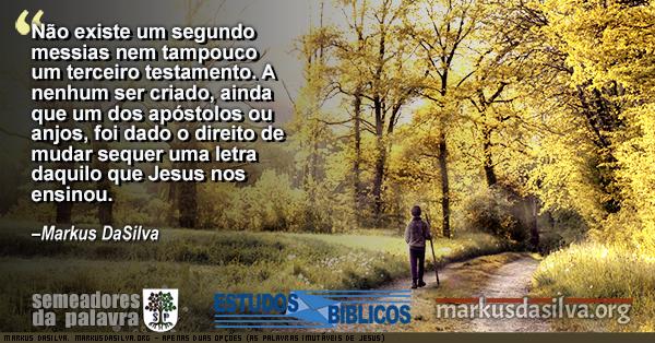 Menina andando numa manha de outono com texto APENAS DUAS OPÇÕES (AS PALAVRAS IMUTÁVEIS DE JESUS)