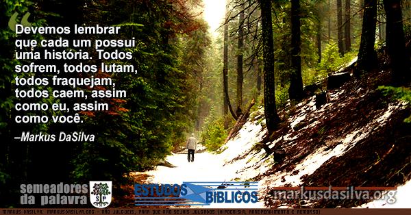 Homen andando numa manha fria de inverno num bosque texto NÃO JULGUEIS, PARA QUE NÃO SEJAIS JULGADOS (HIPOCRISIA, ARREPENDIMENTO E REMORSO)