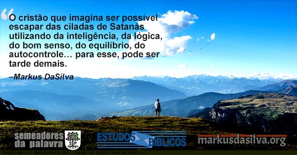 Rapaz olhando de cima de uma montanha com texto Estudo Bíblico - Estudo Bíblico - Vivendo Em Terras Invadidas (Parte 2) - Markus DaSilva