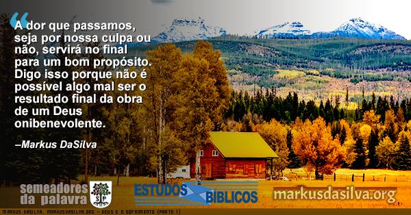 Fotografia de uma casa de campo na estacao de outono com Estudo Bíblico - Deus e o Sofrimento (Parte 1) - Por Markus DaSilva - markusdasilva.org