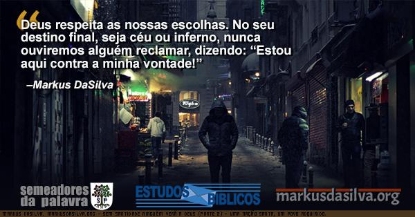 Homen andando numa rua muito escura com Estudo Bíblico -  Sem Santidade Ninguém Verá a Deus (Parte 2) - Uma Nação Santa, Um Povo Adquirido. - Markus DaSilva
