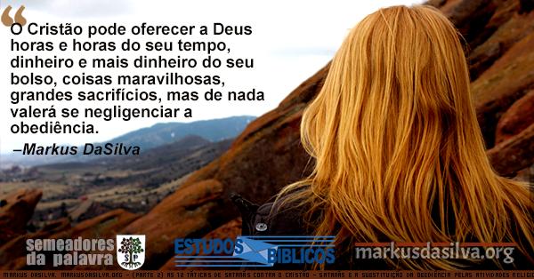 Mulher caminhando em direcao a montanhas rochosas com Estudo Bíblico - Satanás e a Substituição da Obediência Pelas Atividades Religiosas Markus DaSilva