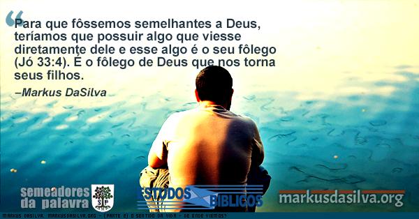 Homen olhando para um mar muito transparente com Estudo Bíblico : (Parte 2) Estudo Bíblico - O Sentido da Vida - De Onde Viemos? - Markus DaSilva
