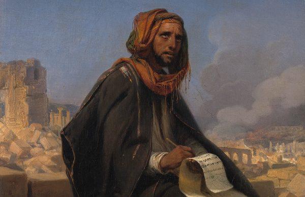 Pintura do Profeta Jeremias escrevendo